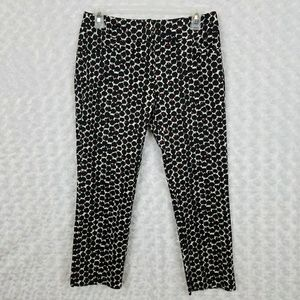 New York & Company 0 Ankle Pants Black Red Print